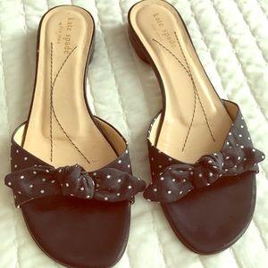 Kate Spade polka dot slide sandals size 7